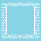 Frame of snowflakes Stock Images