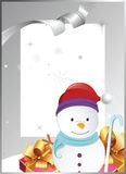 Frame with snowman Royalty Free Stock Photography