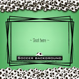 Frame with soccer balls Royalty Free Stock Photos