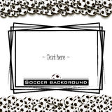 Frame with soccer balls Stock Images