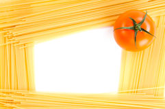 Frame of spaghetti isolated Royalty Free Stock Photos