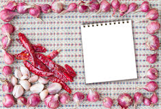 Frame of spicy ingredient Royalty Free Stock Images
