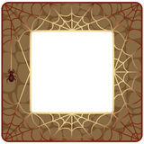 Frame with spider web Stock Photos