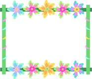 Frame of Spinning Flowers Stock Image