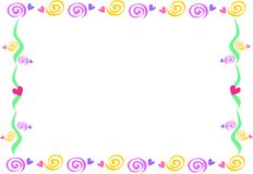 Frame of Spirals and Hearts. Here is a handy frame of Spirals and Hearts Stock Photo