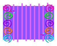 Frame with Spirals and Stripes Royalty Free Stock Photos
