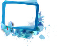 Frame with splashes Royalty Free Stock Photo