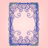 Frame spring green leaves, ornamental, flowering Nouveau stained. Glass window vector illustration Royalty Free Stock Photos