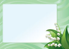 Frame with spring lilies Stock Photos