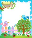 Frame with spring theme  Stock Images
