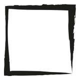 Frame square ink grunge background. Vector illustration Stock Photography