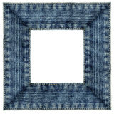Frame of square jeans isolated Royalty Free Stock Image
