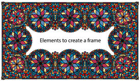 Frame stained glass art Stock Images