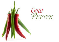 Frame of standing together peppers Chile Royalty Free Stock Photo