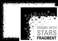 Frame with stars Royalty Free Stock Images