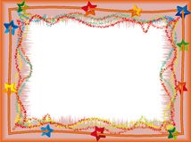 Frame with stars. Celebratory a frame with stars - a vector Stock Image