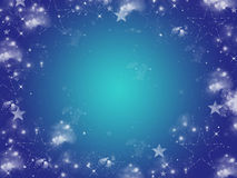 Frame of stars Royalty Free Stock Photos