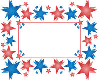 Frame with stars - Happy 4th of July Stock Photos