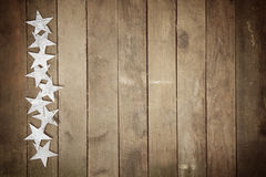 Frame of stars on wood Royalty Free Stock Images