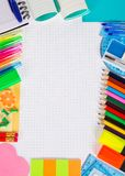 Frame of stationery Stock Photography