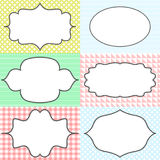 Frame sticker label tags. Card template blanks for Stock Image
