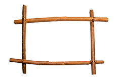 Frame of sticks. Framework from the wooden sticks Royalty Free Stock Photos