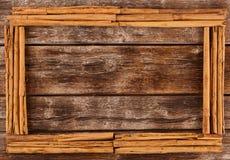 Frame with sticks of celyon cinnamon stock photos