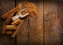 Frame with sticks and ground celyon cinnamon Stock Images
