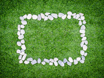 Frame with stones grass background Stock Photos