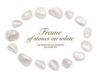 Frame of stones on white Royalty Free Stock Photography