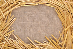 Frame of straw stock photo