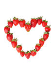 Frame of strawberries in the form of heart Stock Photography