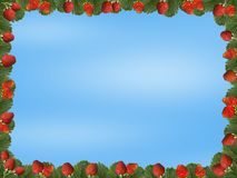 A frame of strawberries stock image