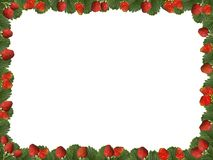 A frame of strawberry berries on a transparent background Stock Photo