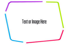 Frame by straws Royalty Free Stock Photo