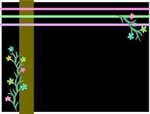 Frame of Stripes and Flowers Royalty Free Stock Photo