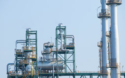 Frame structure of heavy petrochemical industry in petroleum ene Royalty Free Stock Photos