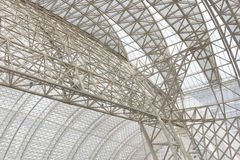 Frame structure of a modern building roof Stock Photo