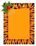 Frame in style of tiger Royalty Free Stock Images