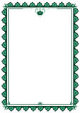 Frame with stylized flower Stock Image