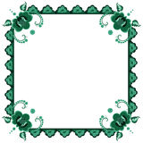 Frame with stylized flowers Stock Image