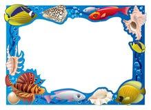 Frame subaquático ilustração stock