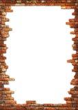 Frame sujo da parede de tijolo Imagens de Stock