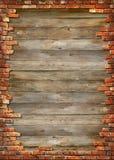Frame sujo da parede de tijolo Fotografia de Stock Royalty Free