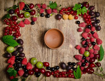 Frame from summer berries Royalty Free Stock Images