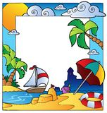 Frame with summertime theme 1 stock illustration