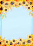 Frame of sunflowers Stock Photography
