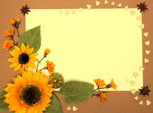 Frame with sunflowers Royalty Free Stock Image