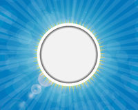 Frame on Sunny Shiny Background Vector Royalty Free Stock Image