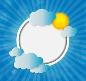 Frame on Sunny Shiny Background Vector Stock Photos